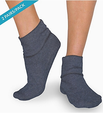 Cottonique Latex Free Organic Cotton Socks - 2 Pack