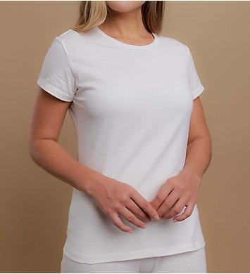 Cottonique Latex Free Organic Cotton Cap Sleeve Shirt