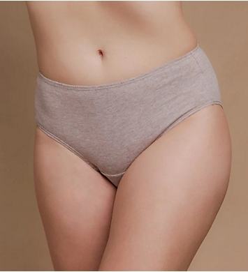 Cottonique Latex Free Organic Cotton Brief Panty - 2 Pack