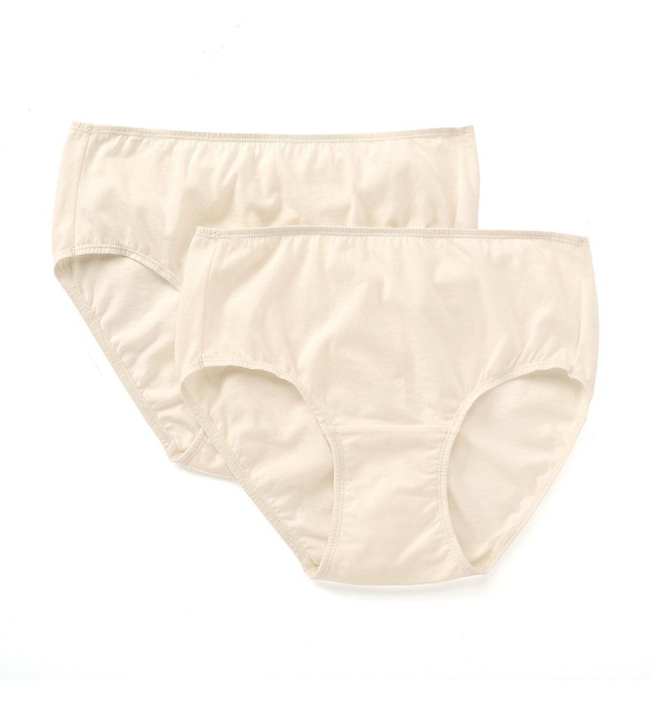 Cottonique - Cottonique W22200C Latex Free Organic Cotton Waist Brief - 2 Pack (Natural 6)