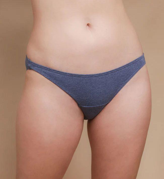 Cottonique Organic Cotton Bikini Brief Panty - 2 Pack