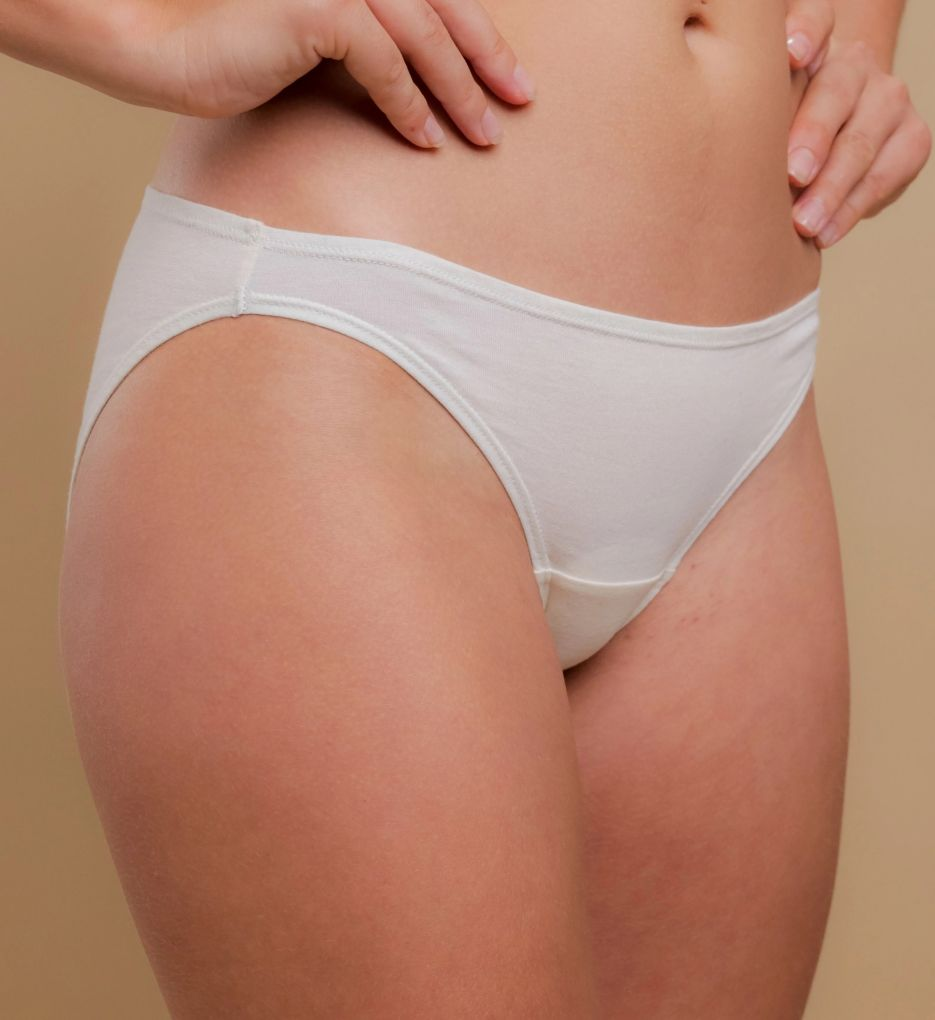 Cottonique Natural Organic Cotton Bikini Brief Panty - 2 Pack
