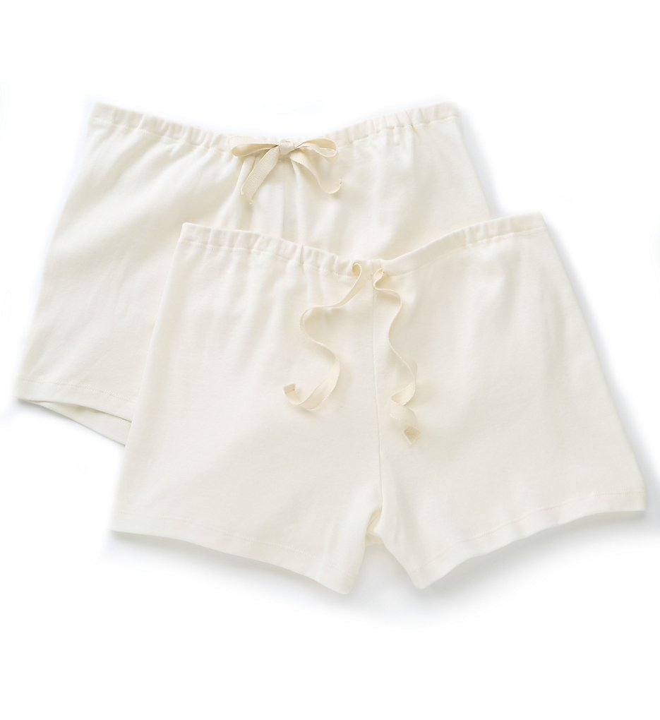 Cottonique - Cottonique W22220N Natural Organic Cotton Boyleg Brief Panty - 2 Pack (Natural 4/5)
