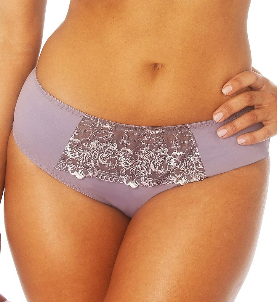 Creme Bralee - Creme Bralee 12319BL Colette Embroidered Micro Hipster Boyshort Panty (Mauve XL)