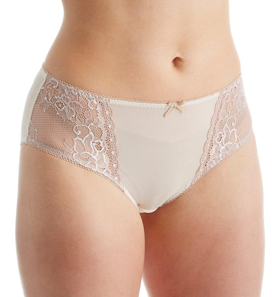 Creme Bralee : Creme Bralee 15333BL Celina Micro Lace Panty (Coffee/Cream XL)