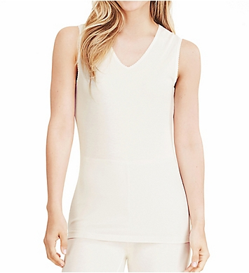 Cuddl Duds Softwear Lace Edge V-Neck Tank