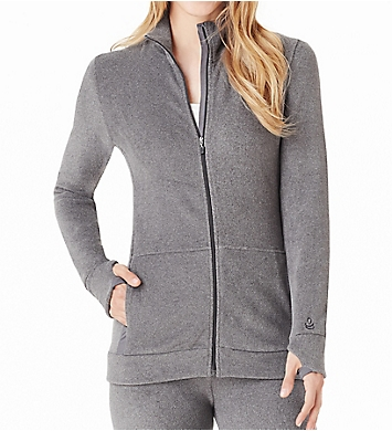 Cuddl Duds Fleecewear with Stretch Long Sleeve Zip-up