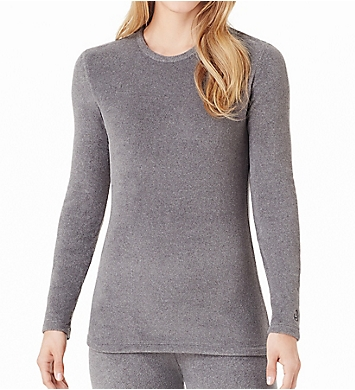 Cuddl Duds Fleecewear Stretch Long Sleeve Crew Neck Shirt