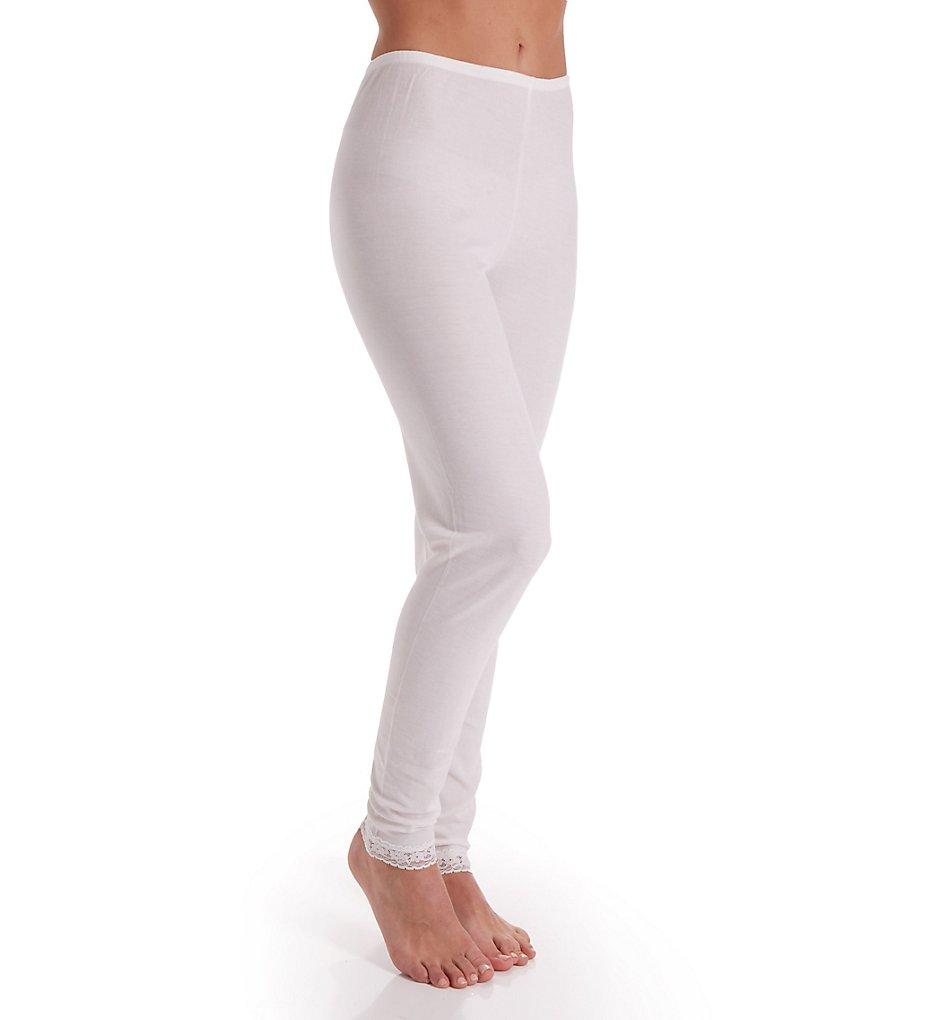 Cuddl Duds 8617535 Softwear Lace Edge Legging (Ivory)