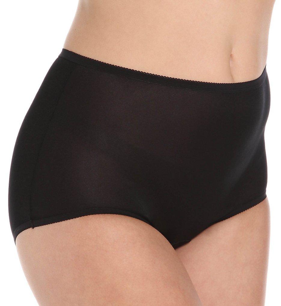 Cuddl Duds LR103 Lorraine Nylon Full Brief Panty With Picot Trim