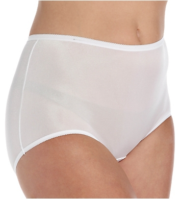 Cuddl Duds Lorraine Nylon Full Brief Panty With Picot Trim