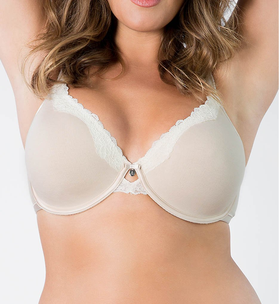 Curvy Couture 1009 Cottonuxe Unlined Underwire T-shirt Bra