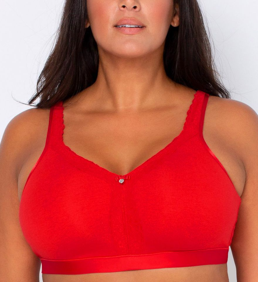 Curvy Couture Cotton Luxe Wire Free Bralette