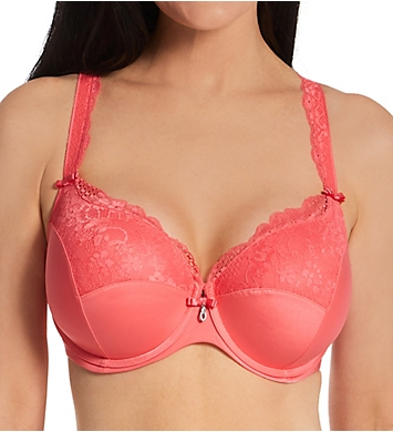Curvy Couture Tulip Lace Push Up Balconette Bra
