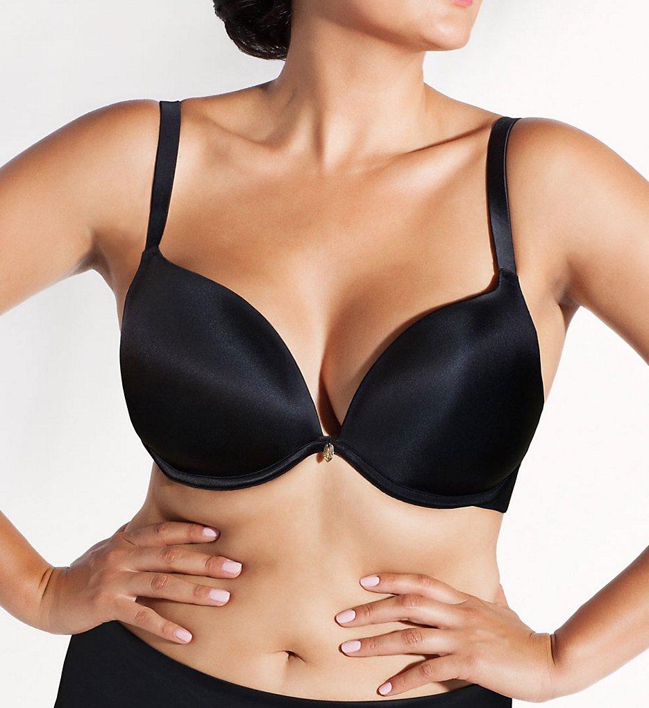 Curvy Couture - Curvy Couture 1129 Essentials Sexy Plunge Underwire Bra (Black 38DDD)
