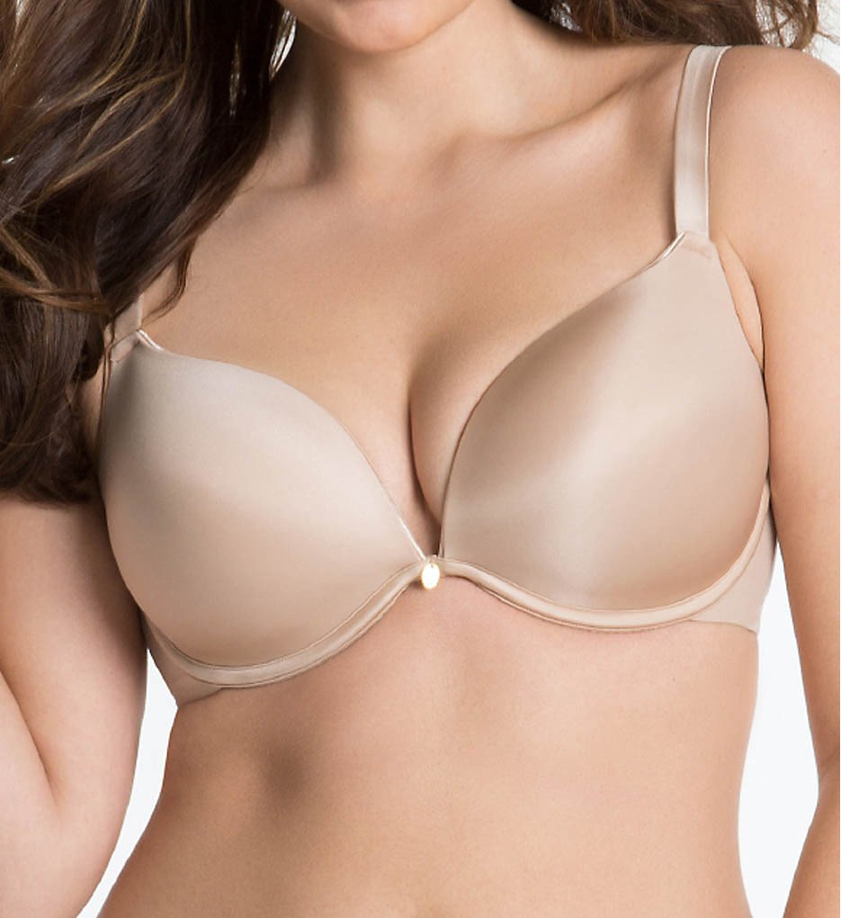 Curvy Couture - Curvy Couture 1129 Essentials Sexy Plunge Underwire Bra (Bombshell Nude 44G)