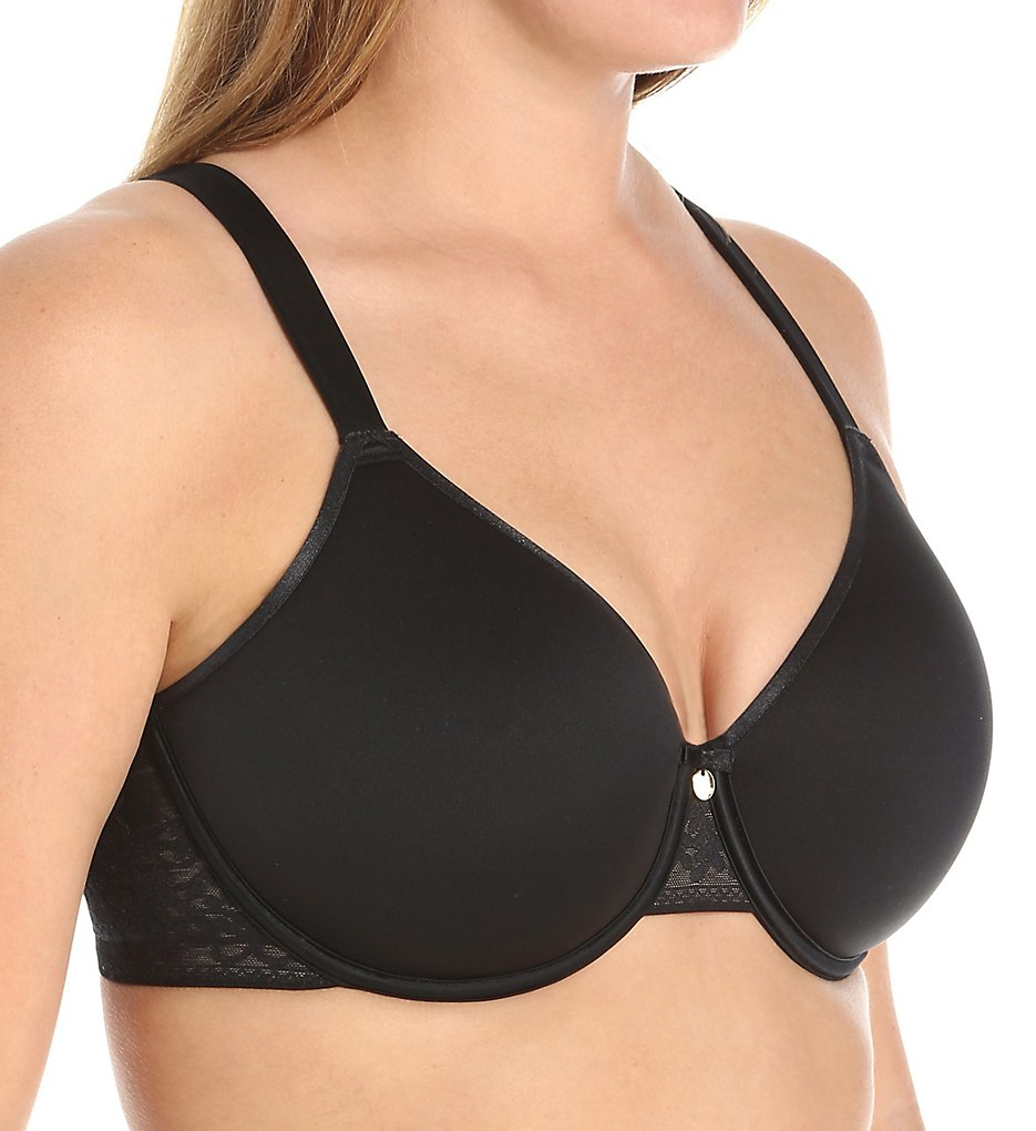 Curvy Couture - Curvy Couture 1131 Convertible Spacer T-Shirt Bra (Black 38C)