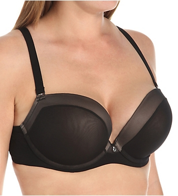 Curvy Couture Sexy Sheer Plunge Bra