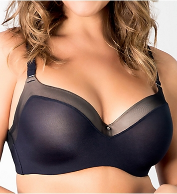Curvy Couture Sexy Sheer Balconette Bra
