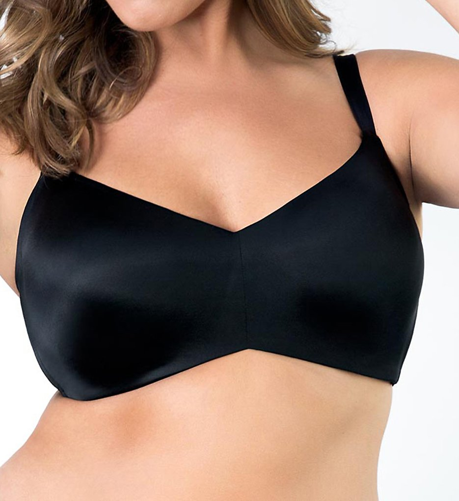 Curvy Couture >> Curvy Couture 1157 Flawless Contour Wire Free T-shirt Bra (Black 38C)