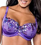 Purple Passion Embroidered Unlined Underwire Bra