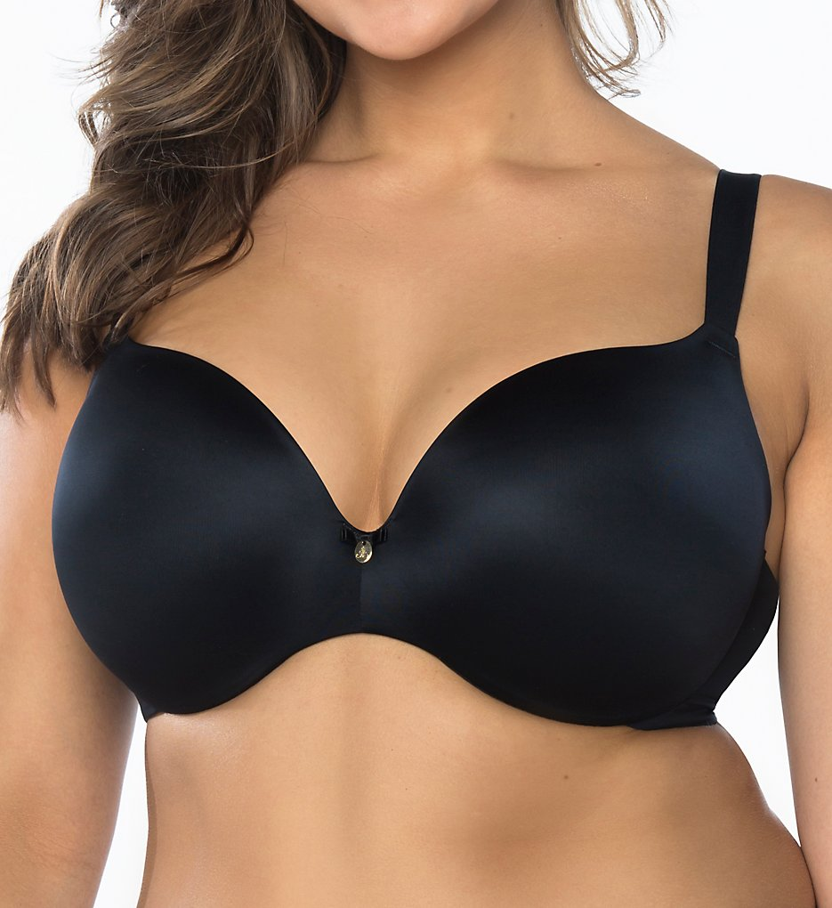 Curvy Couture >> Curvy Couture 1195 Dream Lift Push Up Underwire Bra (Black 34DDD)