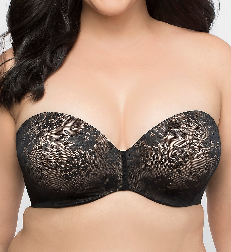 Curvy Couture >> Curvy Couture 1211 Strapless Sensation 7-Way Uplift Bra (Black 36C)