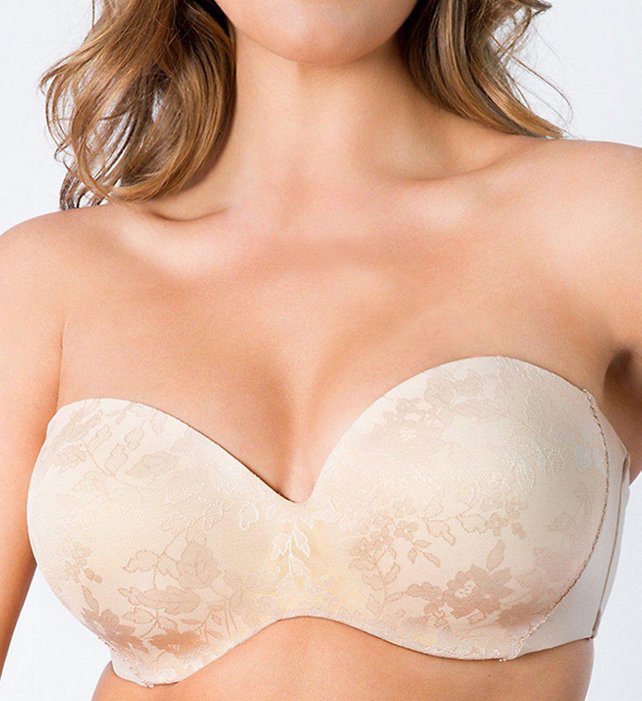 Curvy Couture Strapless Sensation Multi-Way Uplift Bra