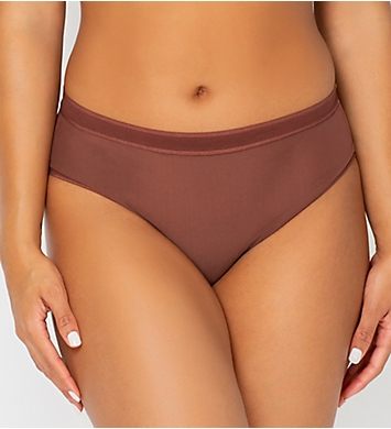 Curvy Couture Sheer Mesh Hipster Panty