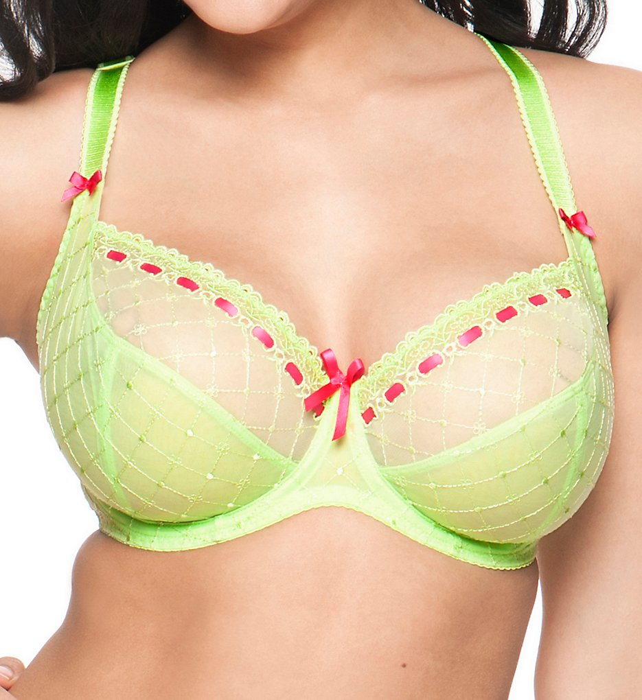 Curvy Kate : Curvy Kate CK4001 Portia Full-Busted Balconette Bra (Lime/Rose 30D)