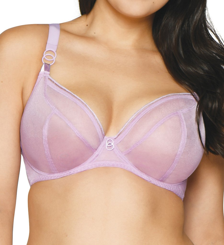 Curvy Kate CK5711 Lifestyle Sheer Plunge Multi Part Cup Bra (Lilac)