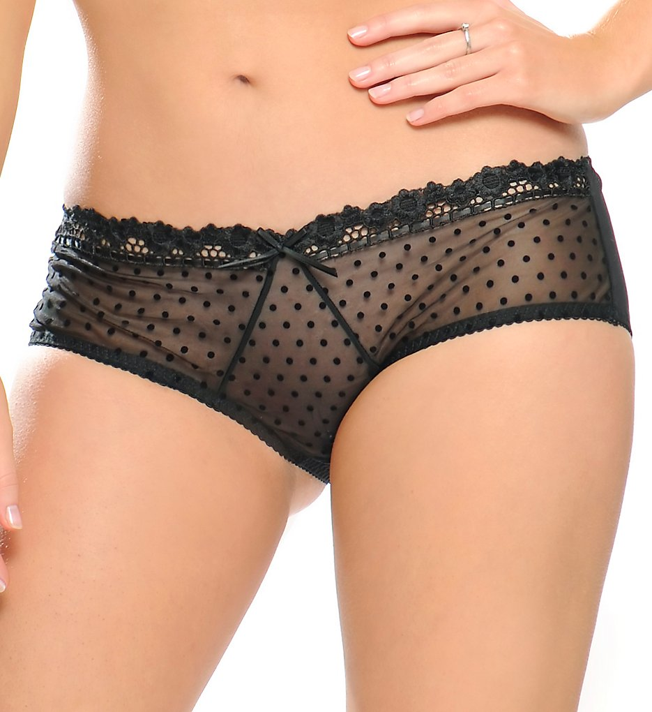 Curvy Kate - Curvy Kate CK6003 Princess Boyshort Panty (Black XL)