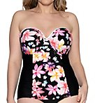 Tropicana Bandeau Underwire Tankini Swim Top