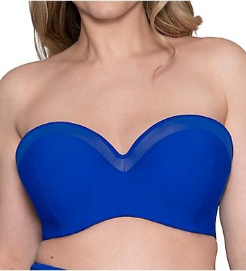 Curvy Kate Sheer Class Bandeau Bikini Swim Top
