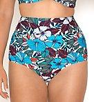 Hibiscus Reversible High Waist Swim Bottom