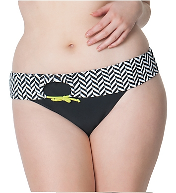 Curvy Kate Hypnotic Fold Over Brief Swim Bottom
