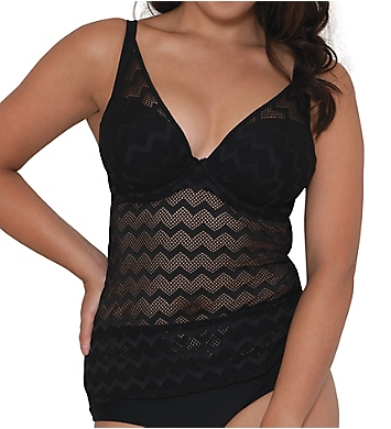 Curvy Kate Hi Voltage Plunge Tankini Swim Top