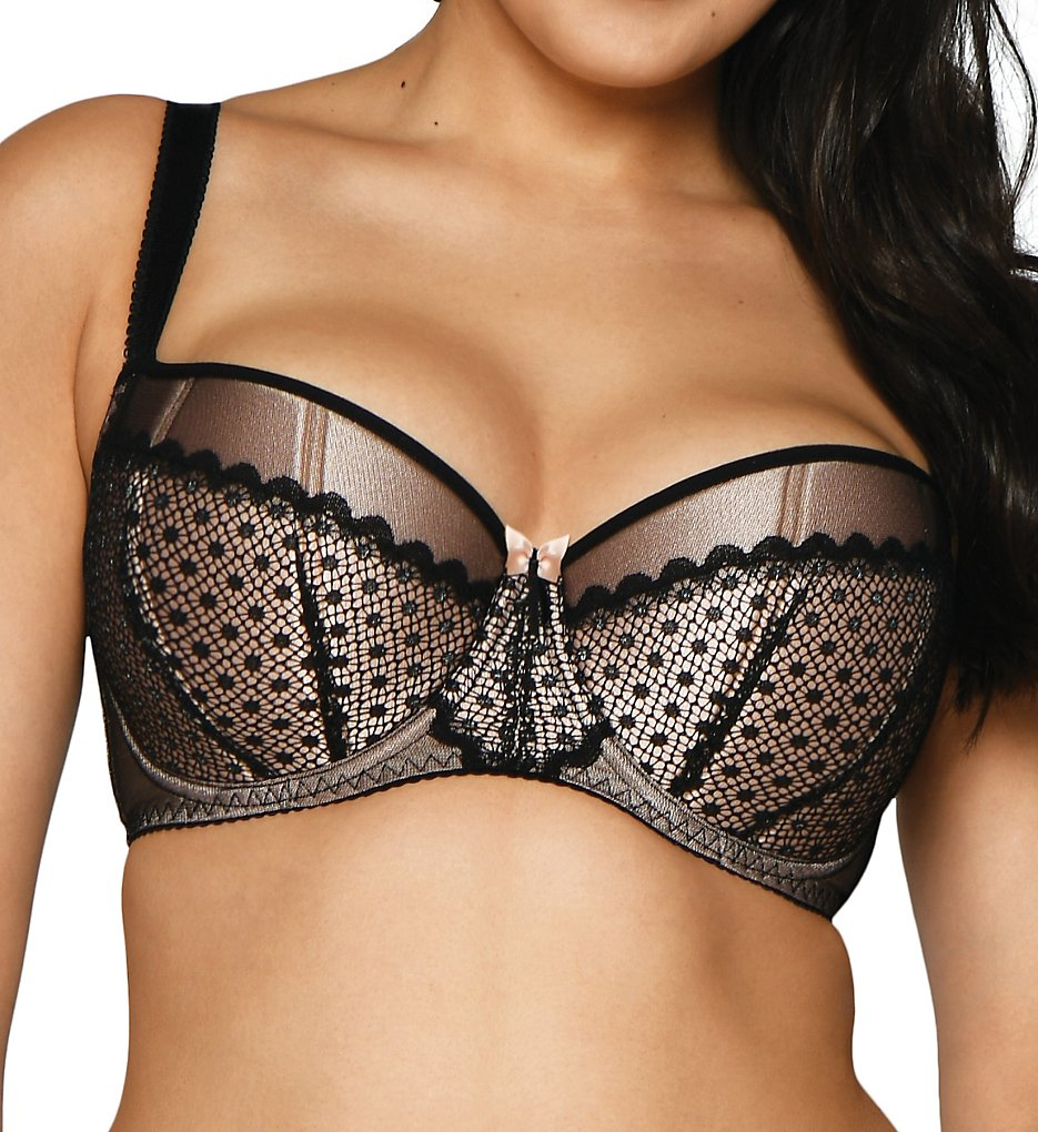 Curvy Kate - Curvy Kate SG10011 Starlight Padded Balcony Bra (Black/Rose 32D)