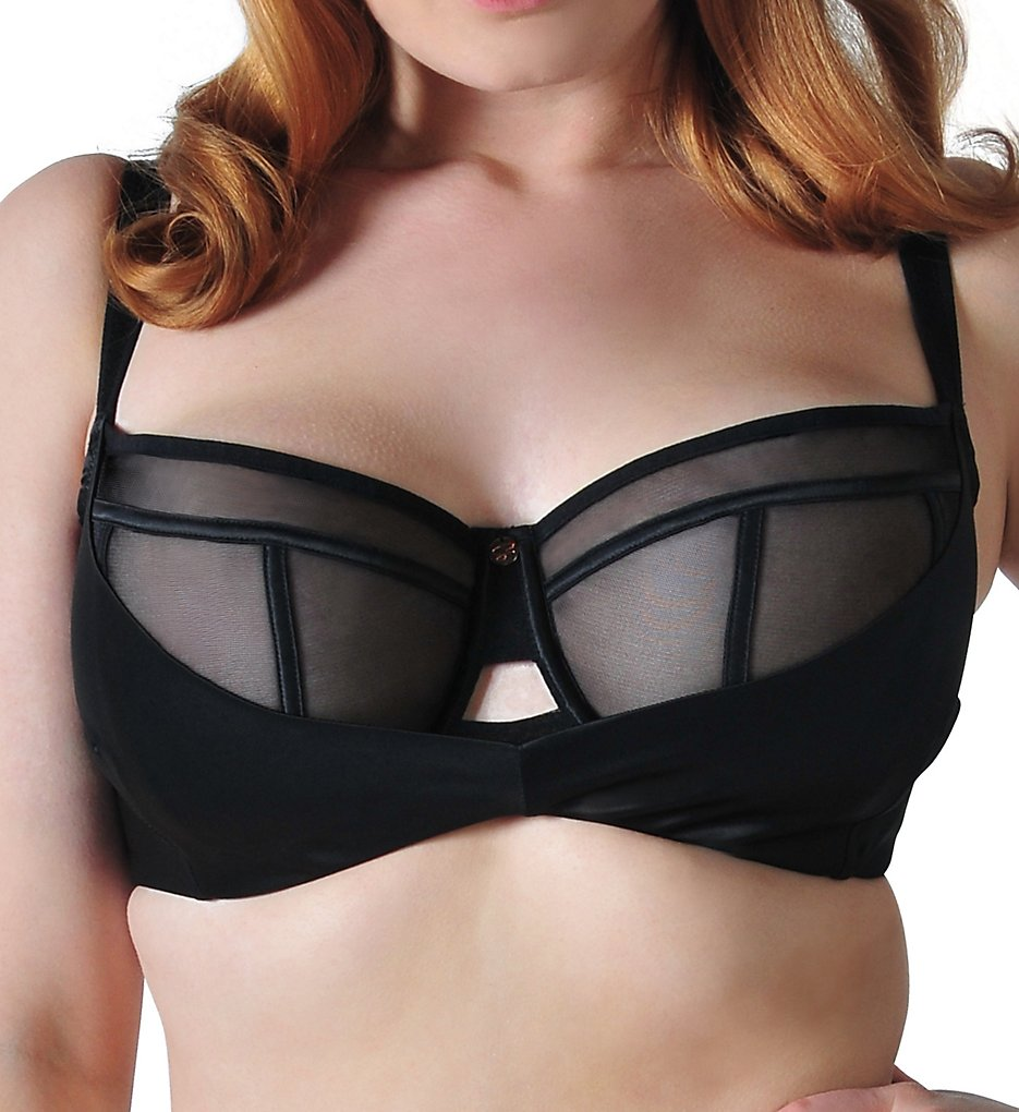 Curvy Kate - Curvy Kate ST2301 Scantilly Peek-A-Boo Balcony Bra (Black 30HH)