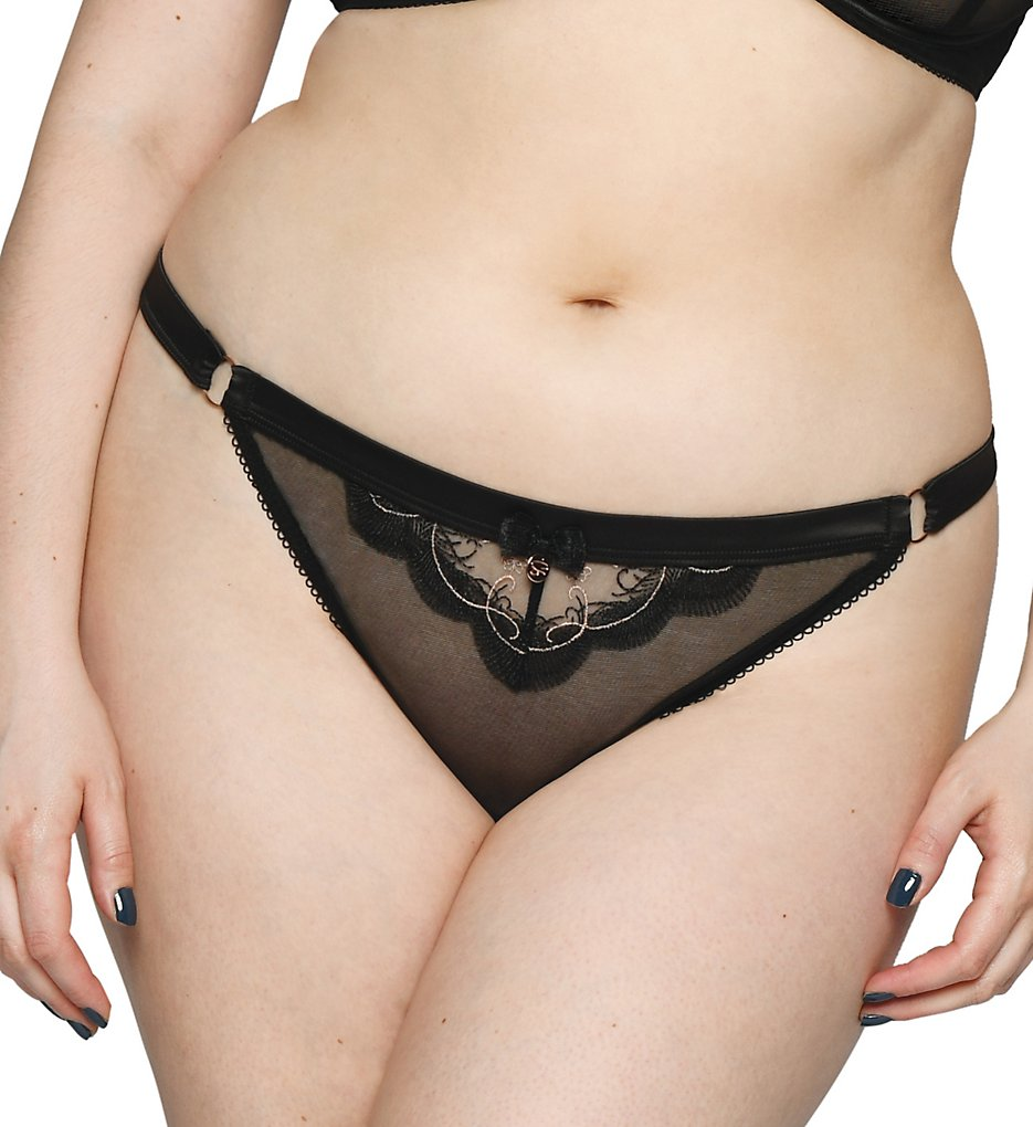 Curvy Kate - Curvy Kate ST2402 Scantilly Surrender Thong (Black L)