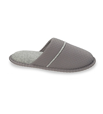 Dearfoams Textured Knit Closed Toe Scuff Slipper