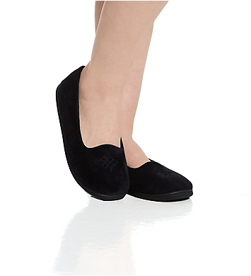 Dearfoams Rebecca Microfiber Velour Closed Back Slipper