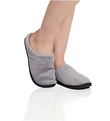 Dearfoams Darcy Velour Clog Slipper with Quilted Cuff