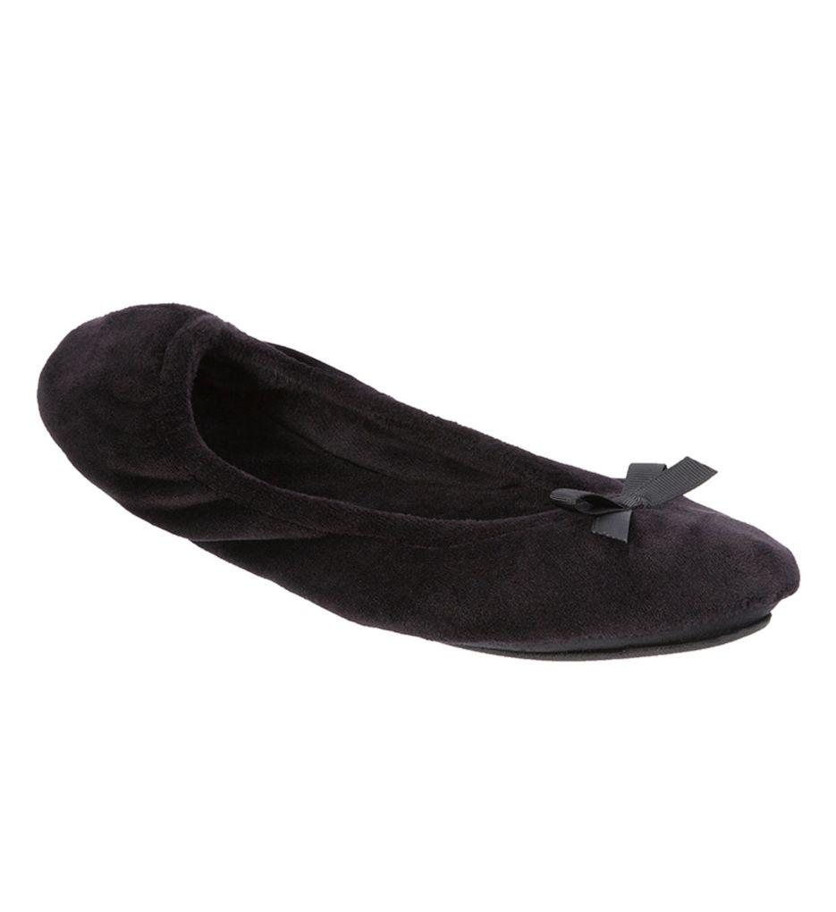Dearfoams Plush Velour Ballerina Slipper