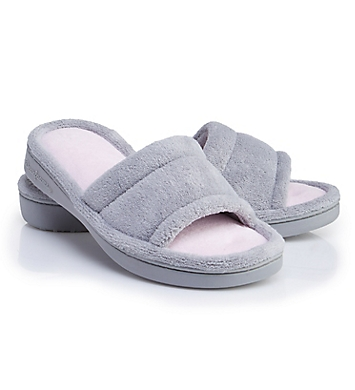 Dearfoams Alice Colorblocked Microfiber Terry Slide