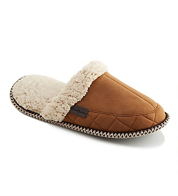 Dearfoams Microsuede Quilted Scuff Slipper With Memory Foam