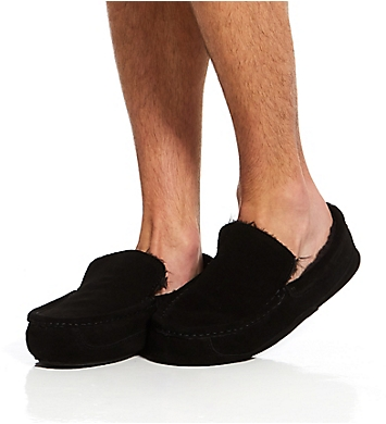 Dearfoams Suede Driver Moc Slipper with Memory Foam