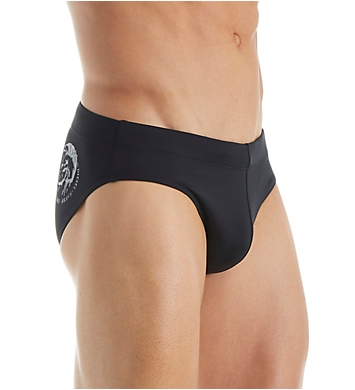Diesel Jack Mohican Logo Low Rise One Inch Swim Brief