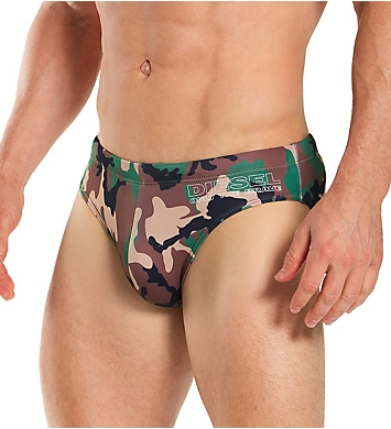 Diesel Jack Camo Swim Brief