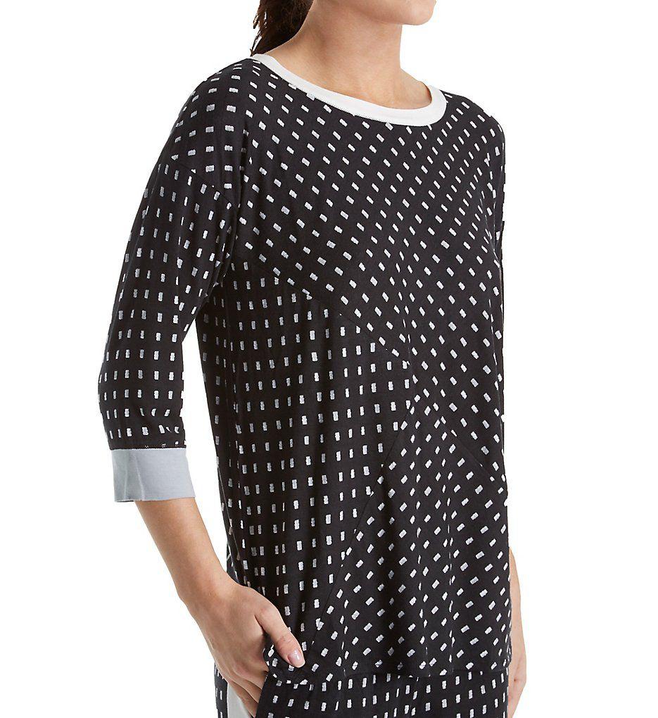 DKNY Resort Lounging 3/4 Sleeve Top